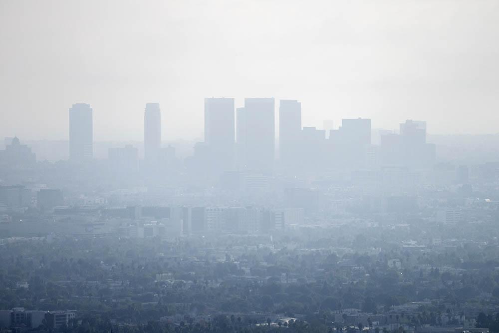 Smog over urban environment